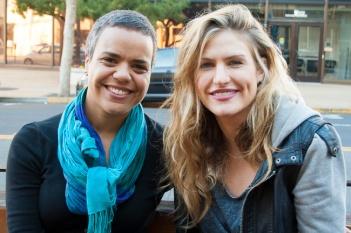Smoking cessation hypnotherapist Stephanie Ciccone-Nascimento, left, talks with her client, Katie Pratt. (Photo: Elliot Owen)