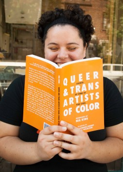 """Nia King reads from her new book Queer & Trans Artists of Color: Some Stories of Our Lives, based off her podcast interview series, """"We Want the Airwaves."""" (Photo: Elliot Owen)"""