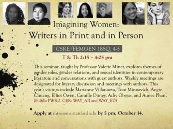 Imagining Women, Stanford Seminar