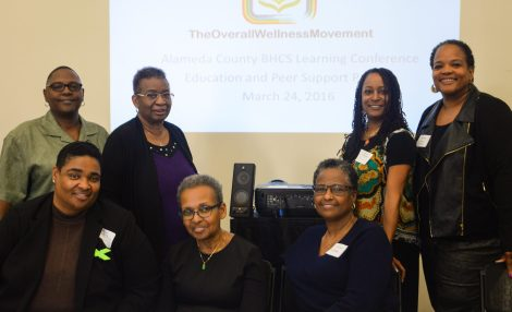 Representatives of the Overall Wellness Movement project attended a recent conference and include, top row from left, minister Katheren Campbell; the Reverend Janice Sommerville; Kristee Haggins, Ph.D.; and the Reverend Doretha Williams-Flournoy. Bottom row from left, the Reverend Dr. Donna Allen, minister Karen Lord-Nixon, and the Reverend Dr. Toni Dunbar. (Photo: Elliot Owen)
